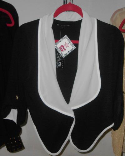 moderno saco para dama en color negro y blanco