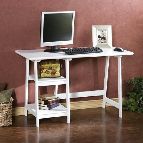 moderno y amplio escritorio importado langston blanco