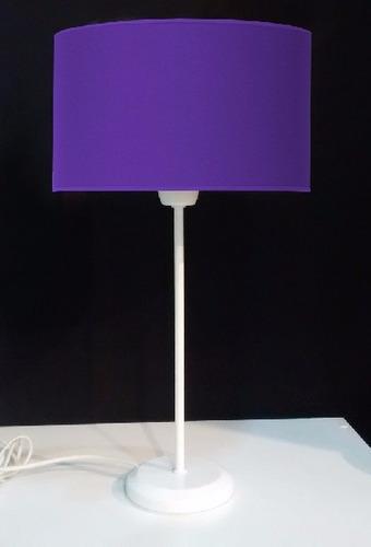 modernos veladores blancos pantalla de tela!! home design