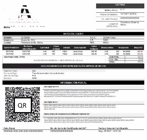 modificaciones a formatos contpaqi factura electronica 3 3