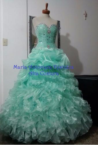 modista alta costura vestidos novias quinces corset tocados