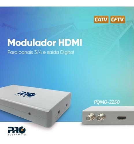modulador hdmi rf conversor hdm ito rfcanal 3 ou 4 cftv uhf