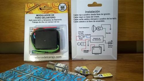 modulador para luz de circulación diurna moto drl