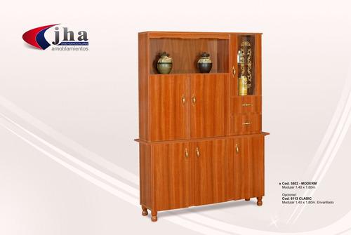 modular 1.40 moderm color roble, caoba , wengue