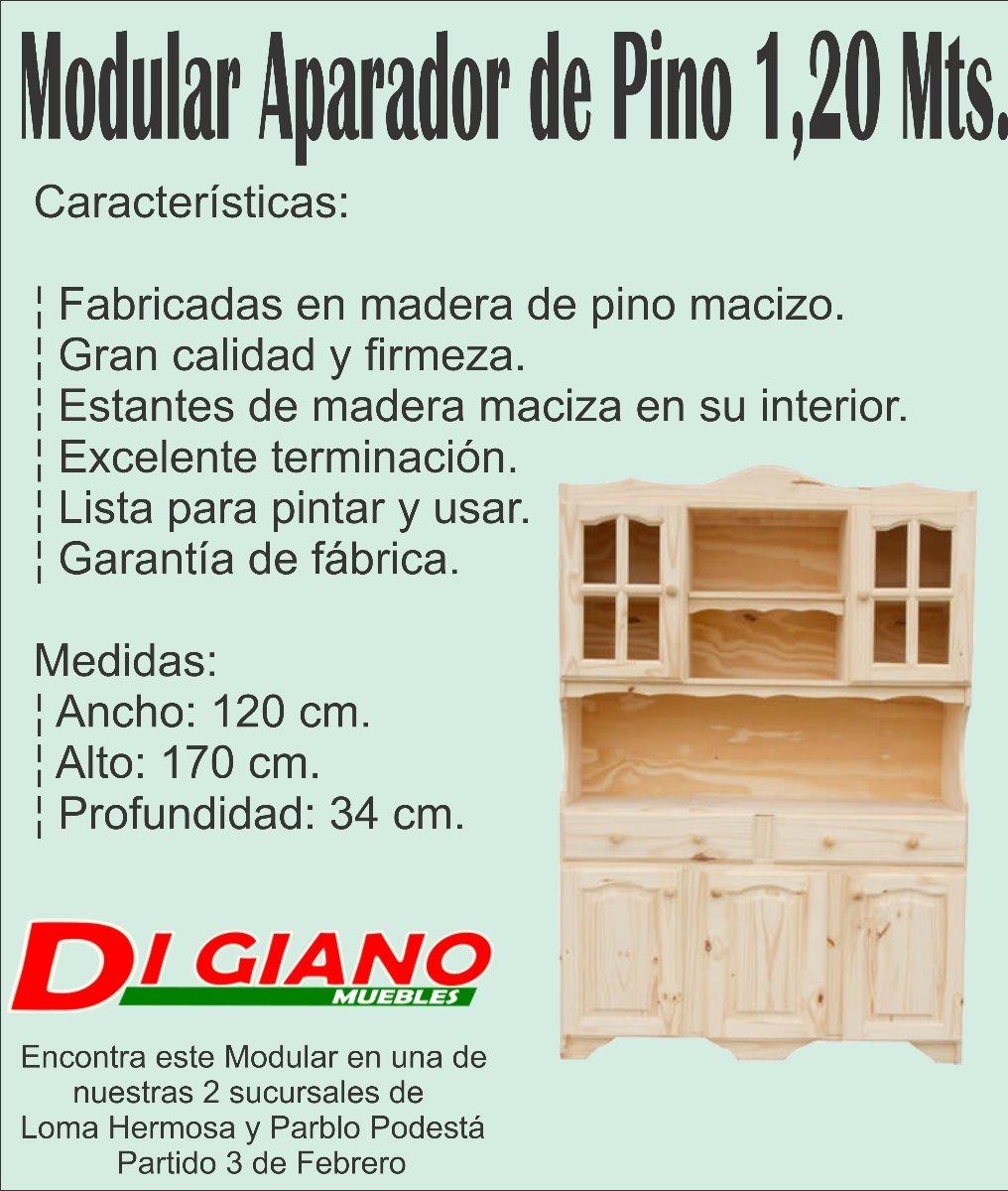 Muebles Digiano - Modular Aparado De Pino 1 20 Mts Pino 2 449 00 En Mercado Libre[mjhdah]http://tranerlogic.com.ar/descripcionplus.png