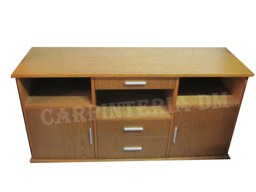 modular bajo tv 170cm roble // carpinteria dm