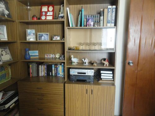 modular biblioteca, vitrina cómodas gavetas.