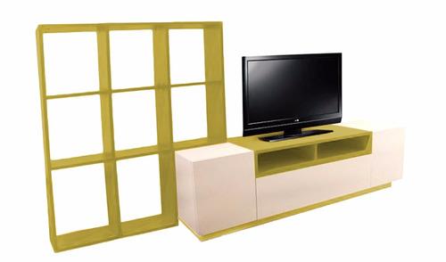 modular - centro de entretenimientos - mesa lcd led - living