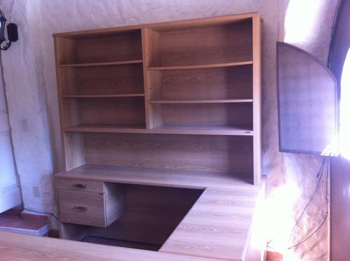 modular de librero con escritorio