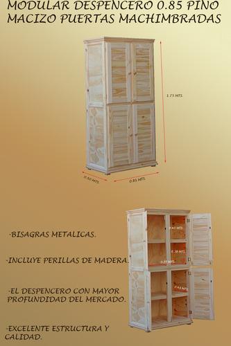 modular despencero-85cm-4 puertas-pino macizo-fabrica