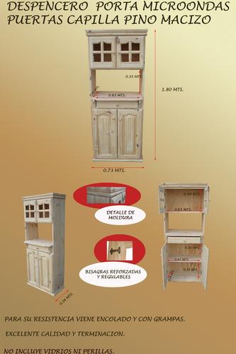 modular despencero porta microondas pino macizo gran oferta