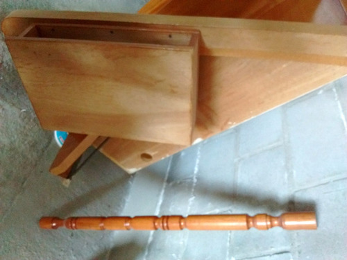 modular esquinero de roble macizo, con escritorio