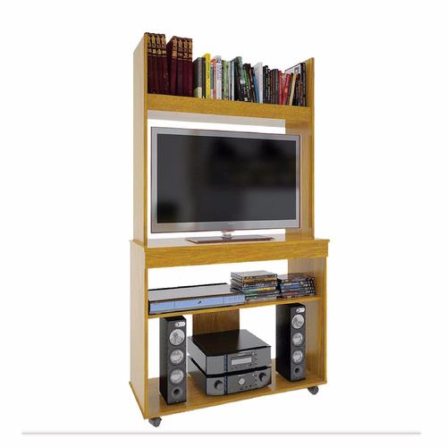 modular mesa de tv orlandi roble cedro wengue biblioteca