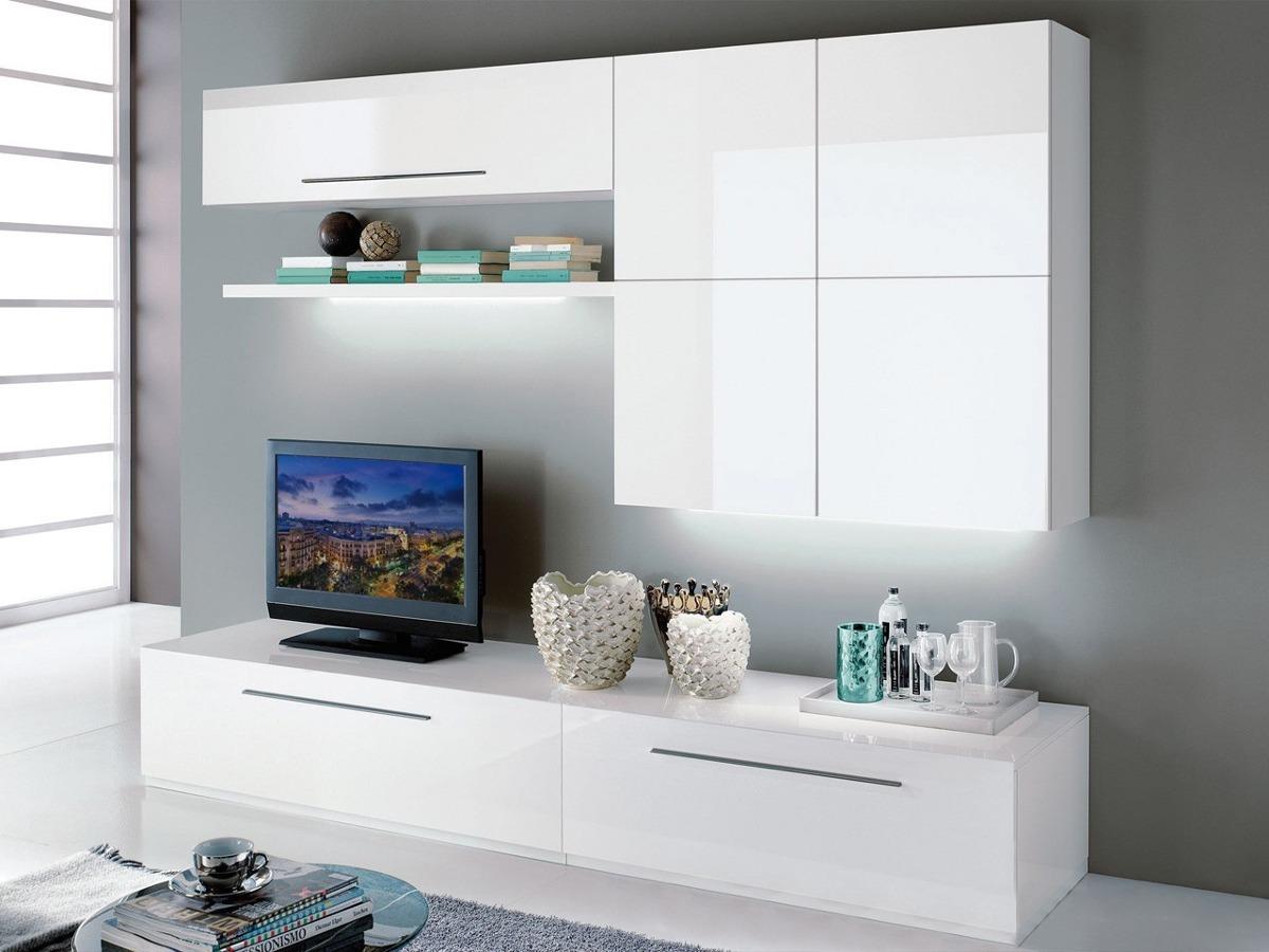 Mueble Lcd Mesa De Tv Vajillero Modular Led Rack Mod Remim  # Muebles Cipriano Lanus