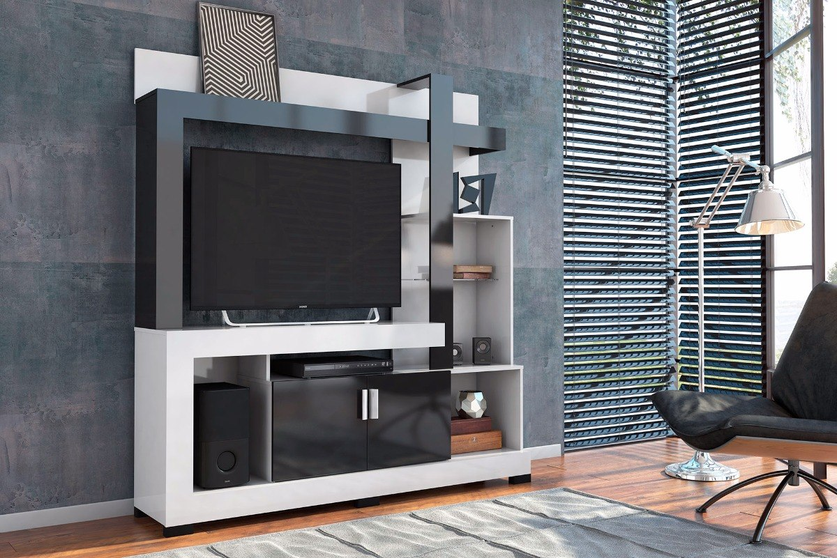 Modular Moderno Mueble Organizador Tv Lcd 42 Audio Video  # Muebles Jope Leon