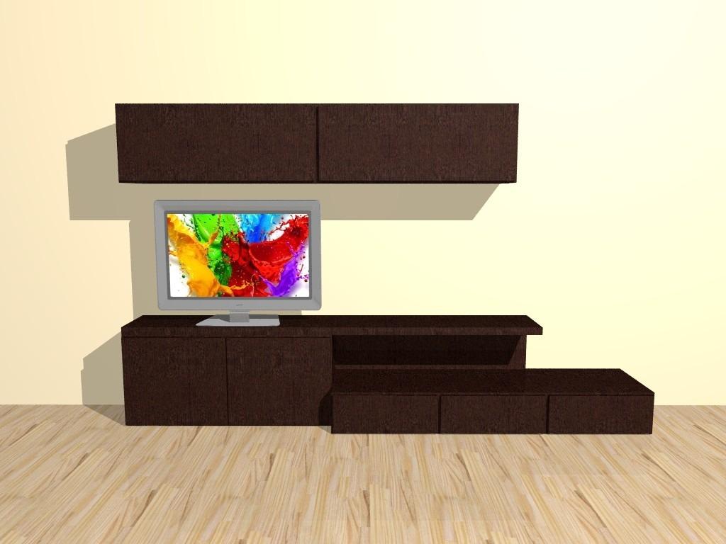 Modular Mueble Lcd Mesa Para Tv Vajillero Ancho 2 20 Mts  # Muebles Cipriano Lanus