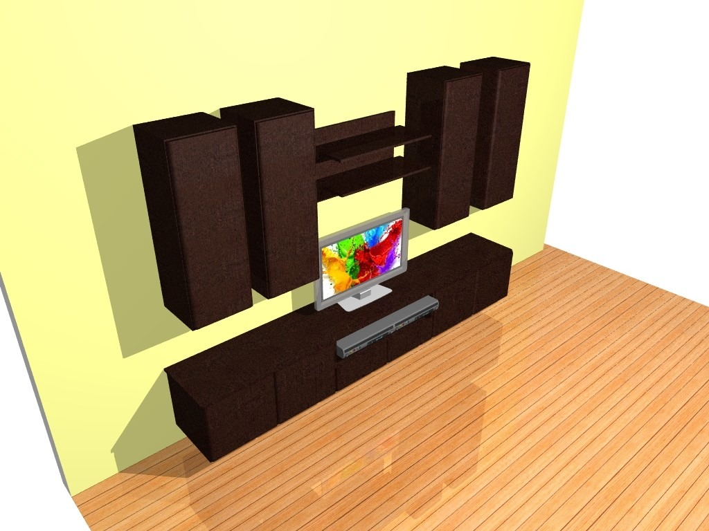 Modular Mueble Lcd Mesa Para Tv Vajillero Rack Led Pal  # Muebles Cipriano Lanus