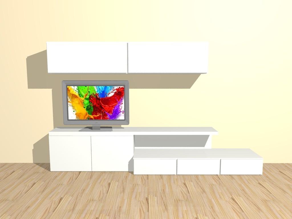 Modular Mueble Lcd Mesa Para Tv Vajillero Roma 2 20 Mts  # Muebles Cipriano Lanus