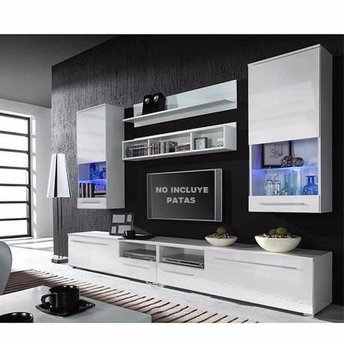 modular mueble led-lcd -lucca 2.40  tv- vajillero- rack