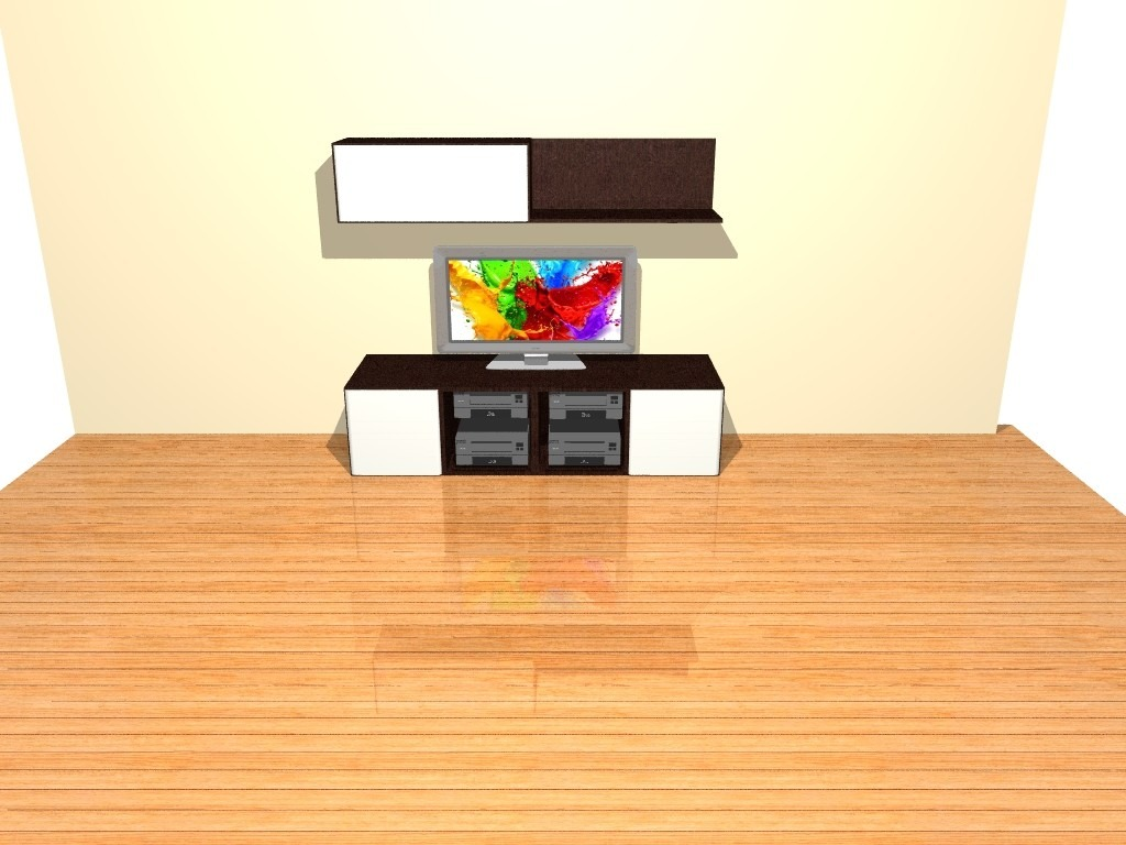 Modular Mueble Mesa Parma 1 80 Metros Tv Vajillero Led  # Muebles Cipriano Lanus