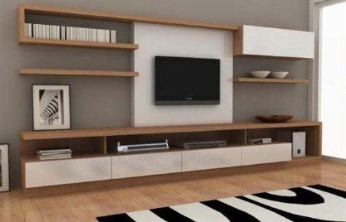 Modular panel mesa tv rack lcd modelo makena muebles ryo for Muebles modulares para tv