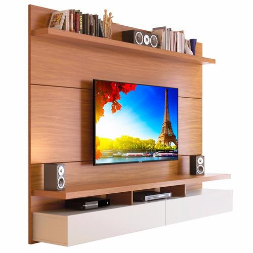 modular rack mueble pared 1.8 city provincia tv led 60  pulg