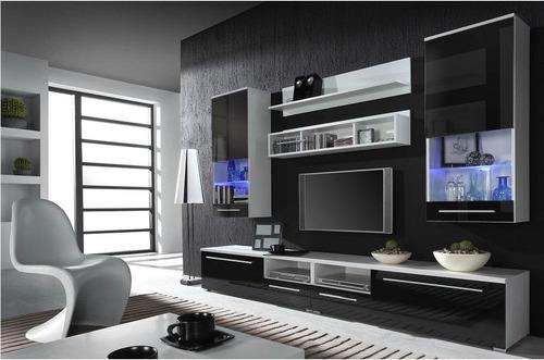 modular rack tv lcd moderno