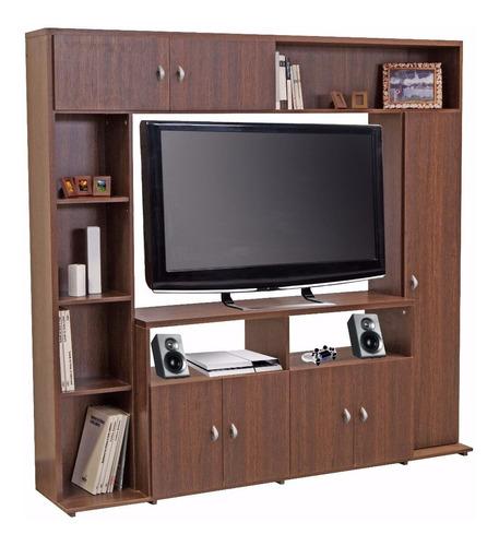 modular rack tv led lcd platinum 5570 melamina biblioteca