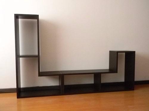 Modular tipo l para tv sala habitacion comedor oficina for Mueble modular para comedor