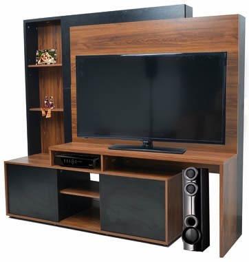 modular tv led lcd platinum hasta 60 5580 melamina color