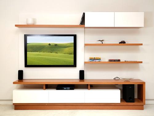modular tv rack madera laqueada estanteria forbidan muebles
