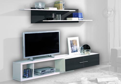 modular vajillero rack led lcd mesa tv moderno la font