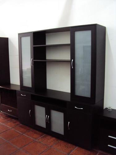 modulares cristaleros de estilo roble  / carpinteria dm