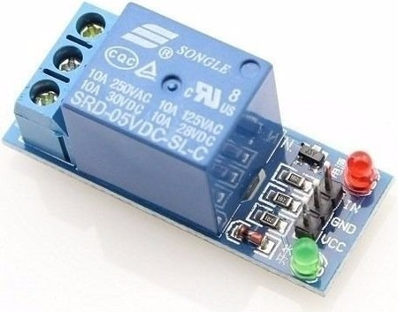 módulo 1 relé relay 5v arduino pic raspberry pi arm chave