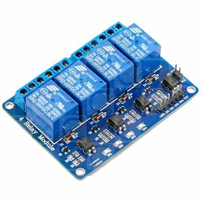 módulo 4 canales relevador rele relay 5v arduino