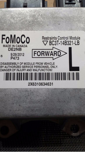 modulo activador airbag ford super duty f-250 2012-2014