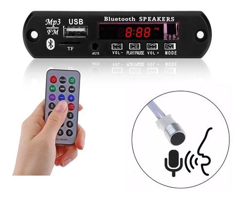modulo adaptador, usb, microsd, fm, bluetooth, estereo. mp3