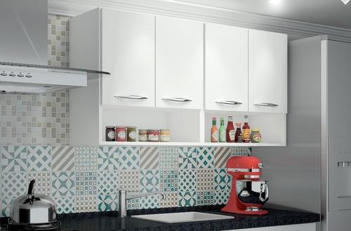 módulo aéreo nicho suspenso 1,20m armário parede cozinha