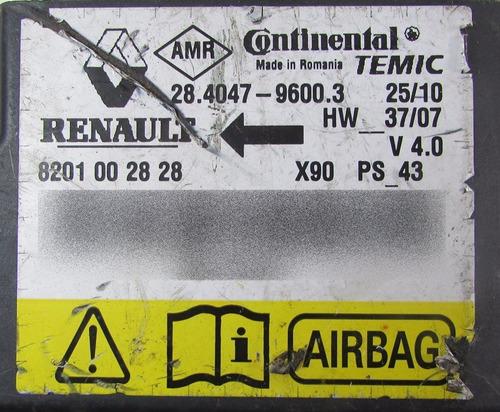 modulo air bag original 8201002828 p renault sandero 08 2011