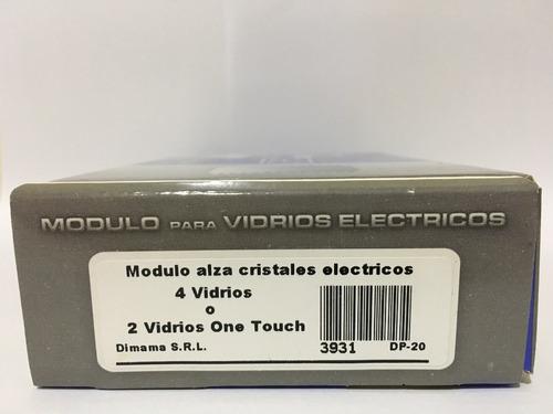 modulo alzacristales dp20 2 o 4 vidrios one touch