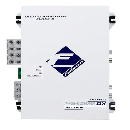 modulo ampl falcon hs 1500dx - 3 canais stereo/mono 450w rms