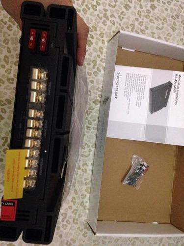 módulo amplifica power one 2400 watts rs4510amp frete gratis