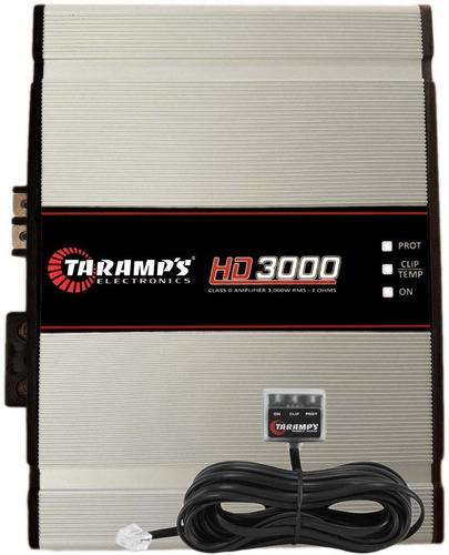 módulo amplificador 3000 w rms taramps hd3000  2 ohm +frete