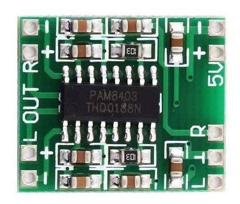 modulo amplificador audio stereo clase d board pam8403 3w+3w