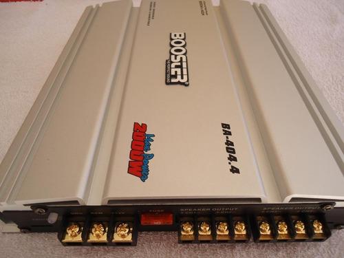 módulo amplificador booster ba 404.4 800rms mosfet 04 ch ab