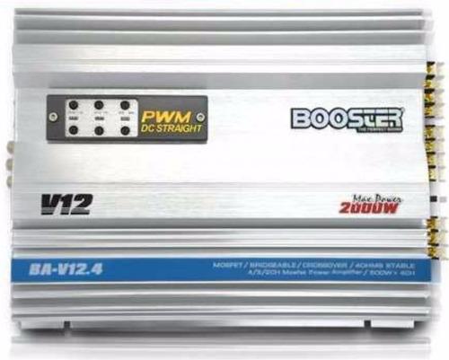 módulo amplificador booster ba-v12 4ch stereo mono 500rms ab