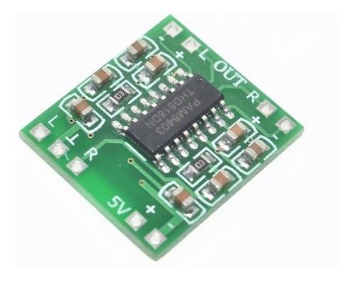 modulo amplificador de audio estereo 5v clase d pam8403 3+3w
