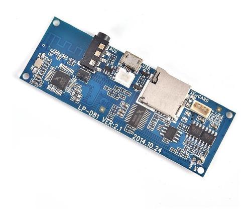 modulo amplificador estereo 3w con bluetooth para bateria