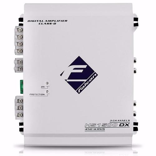 modulo amplificador falcon hs1500 dx digital 3 canais