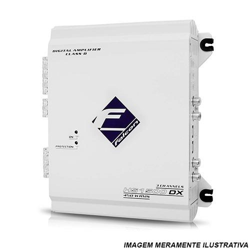 módulo amplificador falcon hs1500dx 450w rms 3 canais